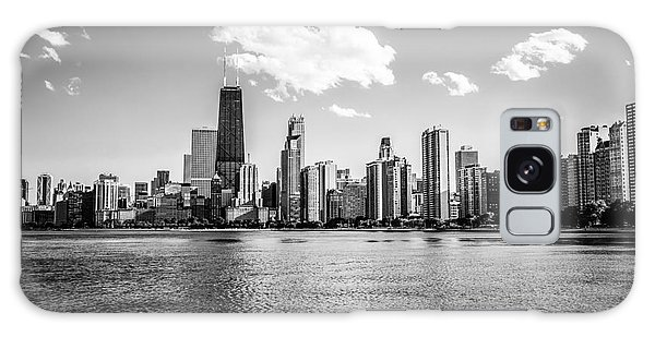 Gold Coast Skyline In Chicago Black And White Picture Galaxy Case