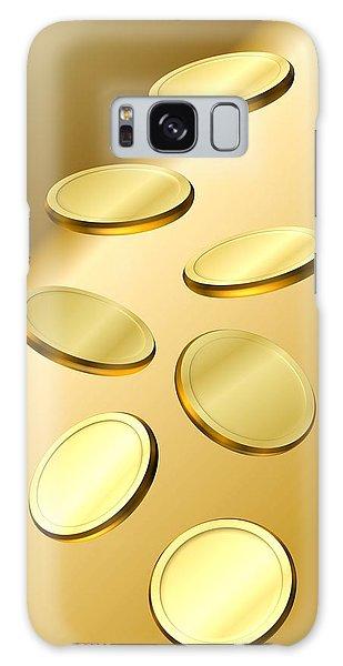 Gold Coins Galaxy Case