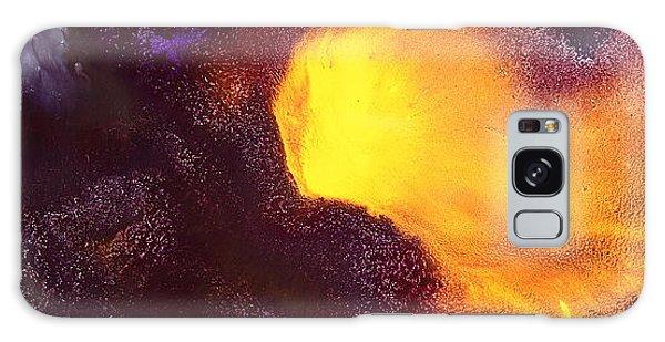 Gold Echo Horizontal Abstract Art By Kredart Galaxy Case