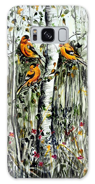 Gold Finches Galaxy Case