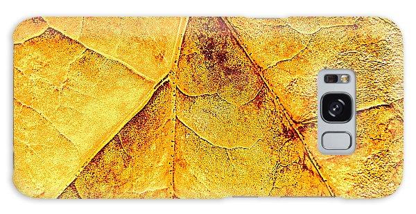 Gold Leaf Galaxy Case by Kathy Bassett