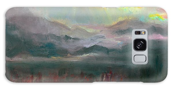 Gold Lining - Chugach Mountain Range En Plein Air Galaxy Case