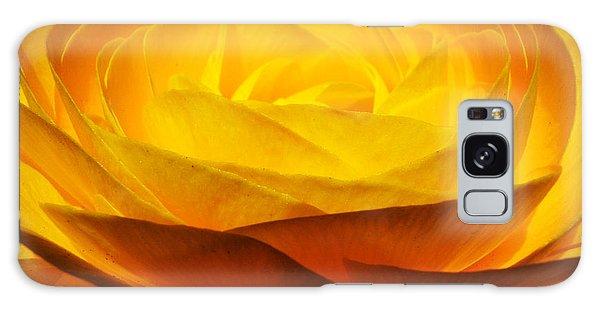 Galaxy Case featuring the photograph Gold Ranunculus Flower by Kristen Fox