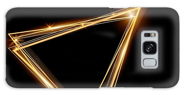 Bright Galaxy Case - Gold Triangle Glowing Frame. Abstract by Ttp999