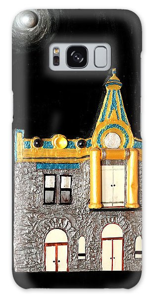 Gold Victorian Mansion-montreal Galaxy Case