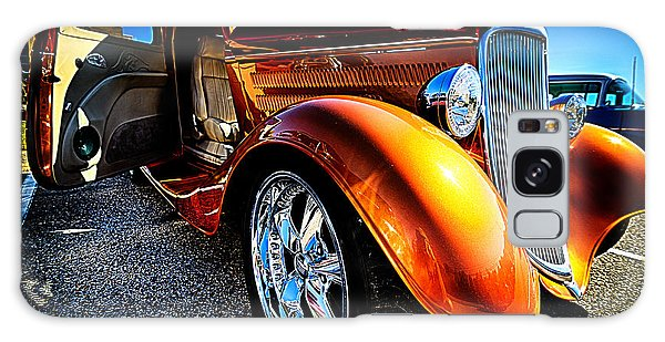 Gold Vintage Car At Car Show Galaxy Case by Danny Hooks