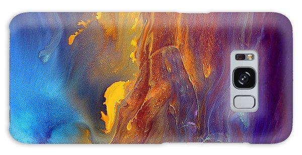 Gold Waterfall - Liquid Gold Abstract Art By Kredart Galaxy Case