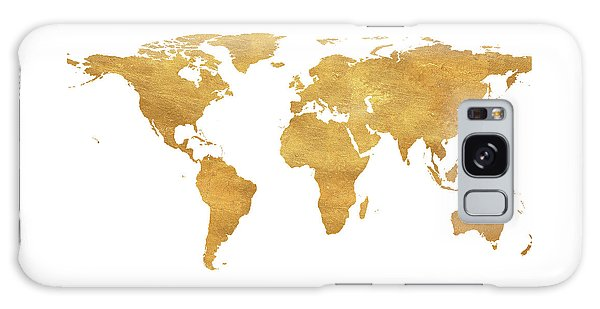 Galaxy Case - Gold World Map by South Social Studio