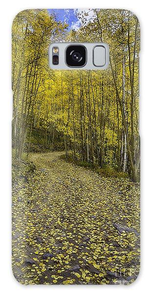 Golden Aspen Road Galaxy Case