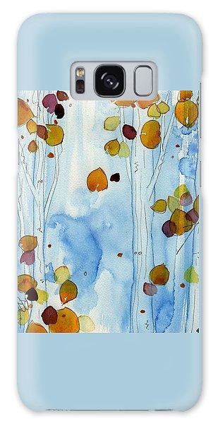 Golden Aspens Galaxy Case by Dawn Derman