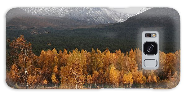 Golden Autumn - Cairngorm Mountains Galaxy Case by Phil Banks