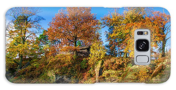 Golden Autumn On Neurathen Castle Galaxy Case