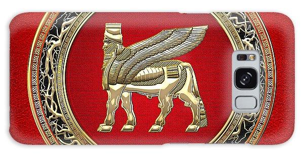 Golden Babylonian Winged Bull  Galaxy Case