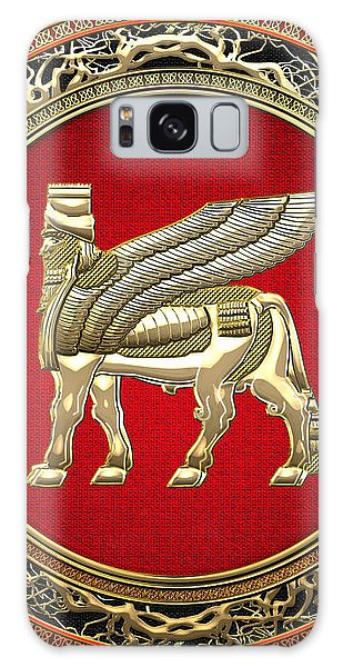 Golden Babylonian Winged Bull  Galaxy Case