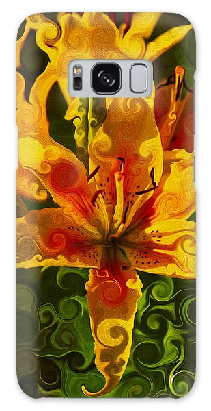 Galaxy Case featuring the painting Golden Beauties by Omaste Witkowski