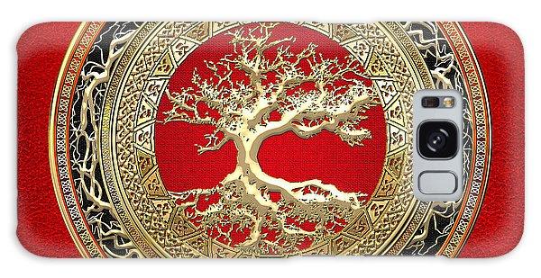 Golden Celtic Tree Of Life  Galaxy Case