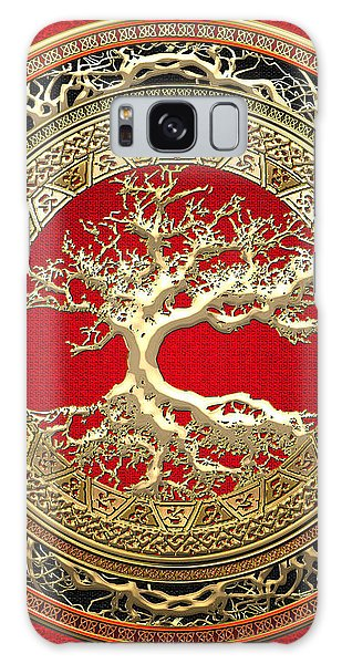 Golden Celtic Tree Of Life  Galaxy Case