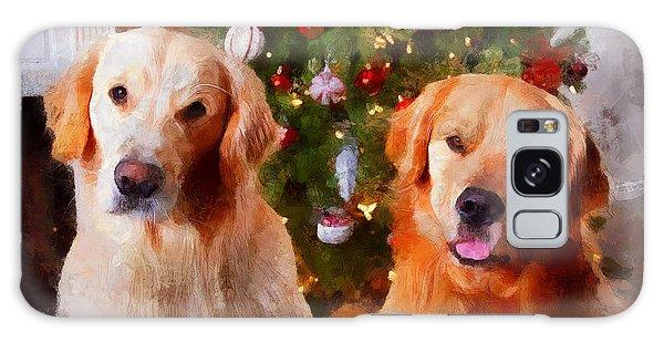 Golden Christmas Galaxy Case