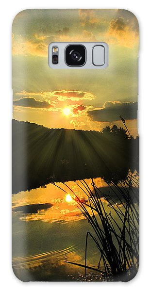 Golden Day Galaxy Case by Cindy Haggerty