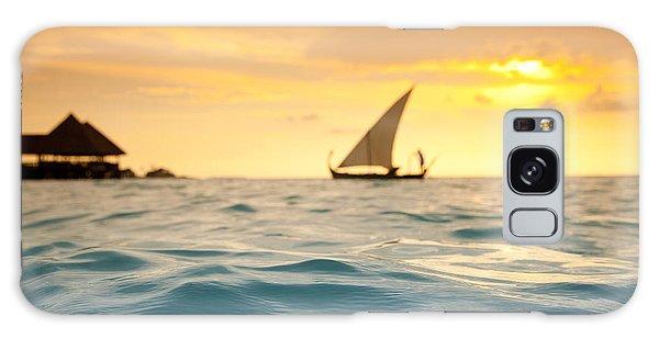 Water Ocean Galaxy Case - Golden Dhoni Sunset by Sean Davey
