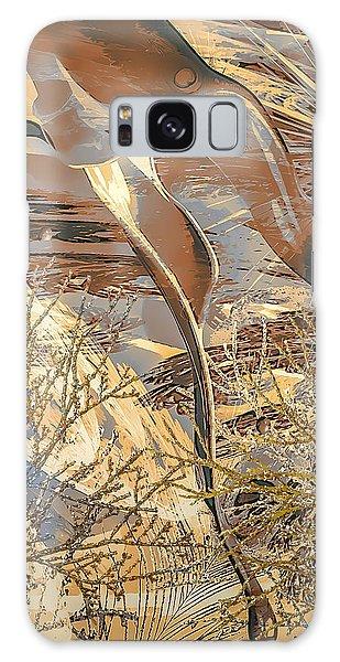 Galaxy Case featuring the digital art Golden Dream by Eleni Mac Synodinos