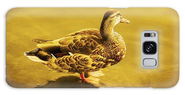 Golden Duck Galaxy Case by Nicola Nobile