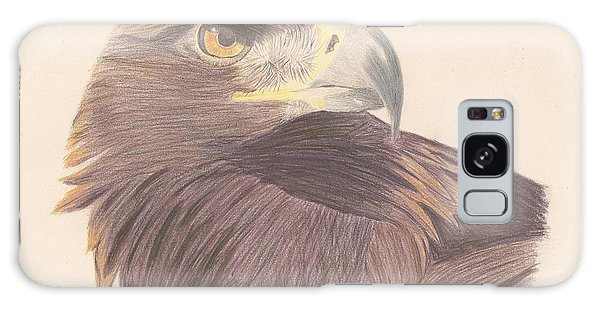 Golden Eagle Study Galaxy Case by Sheila Byers