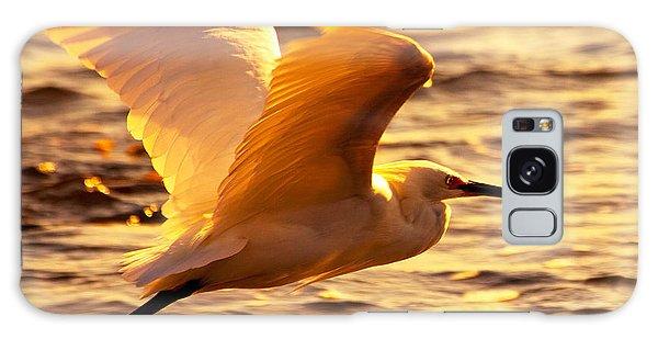 Golden Egret Bird Nature Fine Photography Yellow Orange Print  Galaxy Case by Jerry Cowart