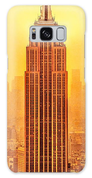 Empire State Galaxy Case - Golden Empire State by Az Jackson