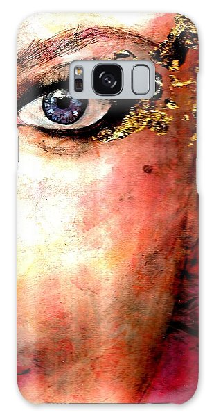 Golden Eyes Galaxy Case by P J Lewis