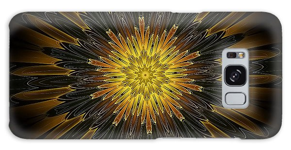 Golden Feathers Galaxy Case