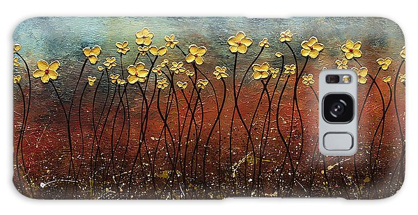Golden Flowers Galaxy Case
