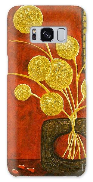 Golden Flowers Galaxy Case