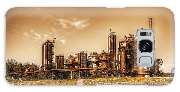 Golden Gas Works Galaxy Case