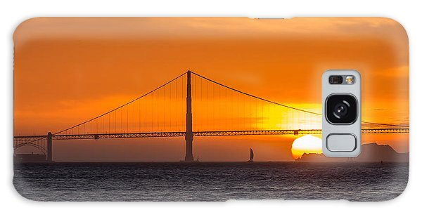 Golden Gate - Last Light Of Day Galaxy Case