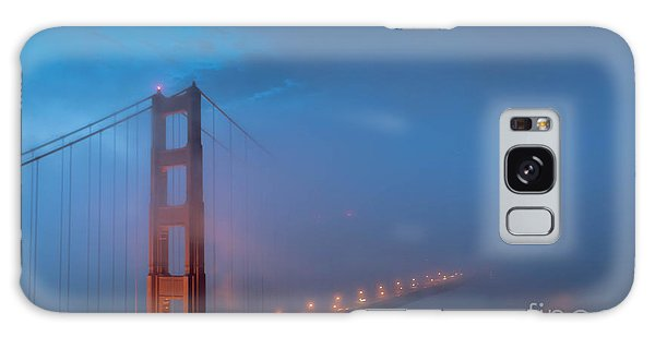 Golden Gate At Blue Hour Galaxy Case