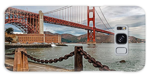Golden Gate Bridge And Fort Point Galaxy Case