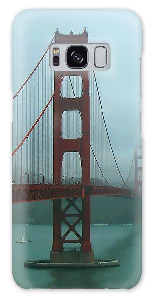 Golden Gate Bridge And Partial Arch In Color  Galaxy Case