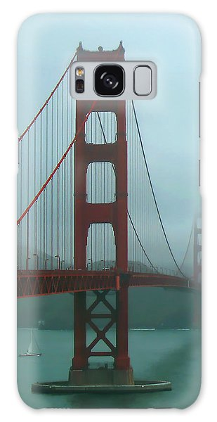 Golden Gate Bridge And Partial Arch In Color  Galaxy Case by Connie Fox