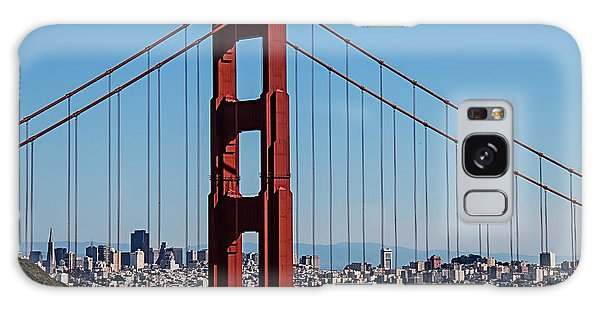 Cultural Center Galaxy Case - Golden Gate Bridge And San Francisco by Garry Gay