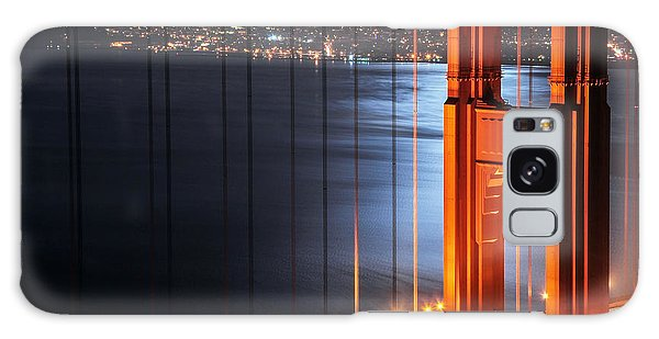 Golden Gate Bridge And Supermoon Galaxy Case