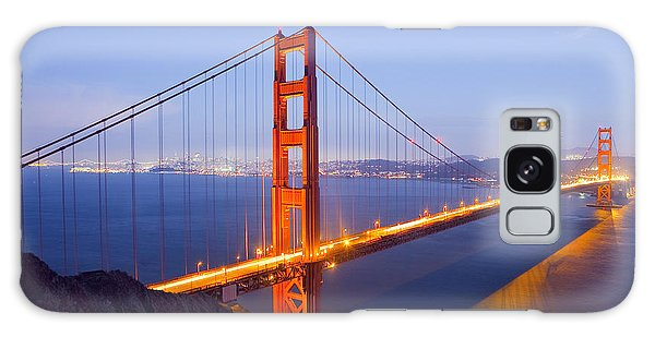 Golden Gate Bridge At Dusk Galaxy Case