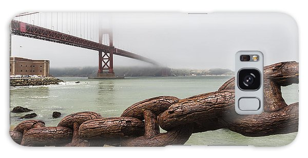 Rusty Chain Galaxy Case - Golden Gate Bridge Chain by Adam Romanowicz
