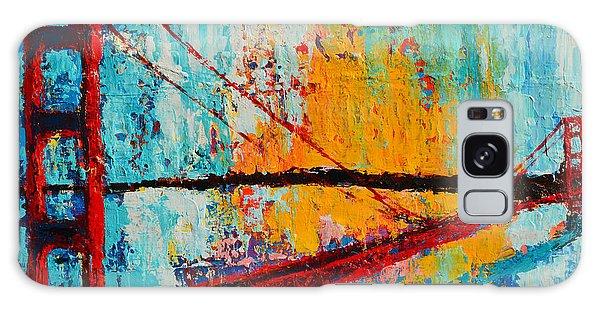 Golden Gate Bridge Modern Impressionistic Landscape Painting Palette Knife Work Galaxy Case