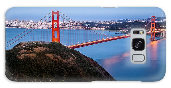 Golden Gate Bridge Galaxy Case by Mihai Andritoiu