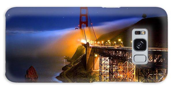 Golden Gate Bridge Moon Fog Mystery Galaxy Case
