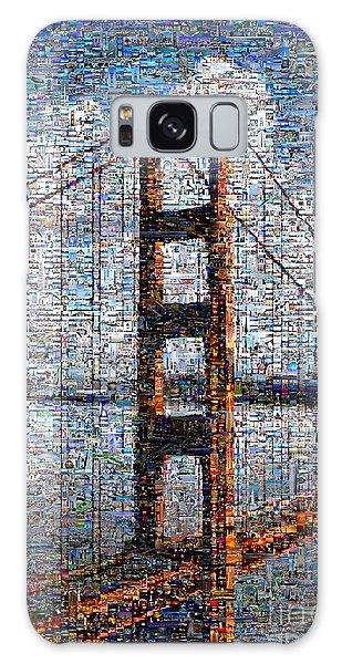 Golden Gate Bridge Mosaic Galaxy Case by Wernher Krutein