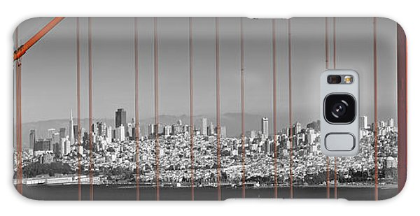 West Bay Galaxy Case - Golden Gate Bridge Panoramic Downtown View by Melanie Viola