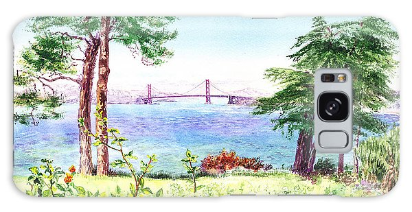 Golden Gate Bridge View From Lincoln Park San Francisco Galaxy Case