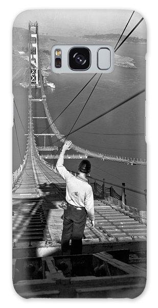 Catwalk Galaxy S8 Case - Golden Gate Bridge Worker by Underwood Archives